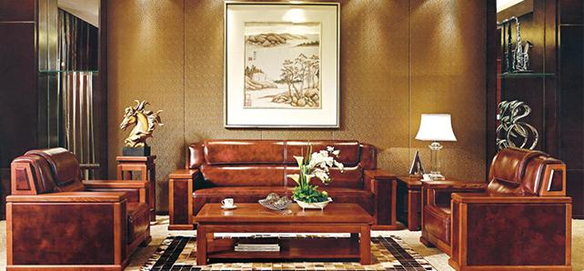 济南卓怡实木办公家具—纯实木沙发组合